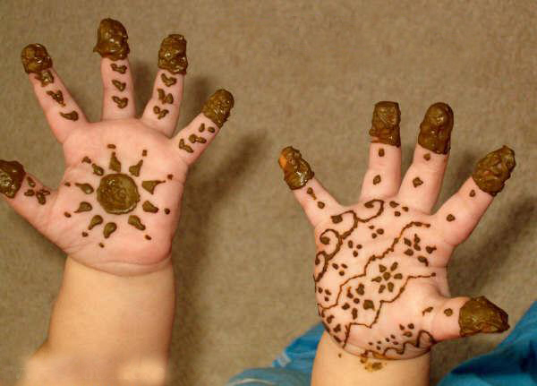 Mehndi For Eid : Eid mehndi designs for kids zawaya